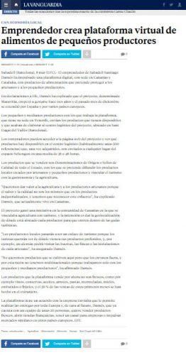 Maravitia aparece en La Vanguardia | (c) Maravitia